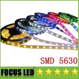 Wholesale Self Adhesive Led Lighting - 5M Lot SMD 5630 Led Strips Light 60LEDs M 12V Self-Adhesive IP65 Waterproof Flexible fita led Lamp Lighting Decoration