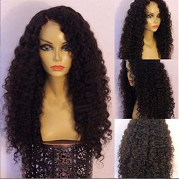 Wholesale Kinky Straight Wig Shedding - New Arrival!Top Quality Human Wigs 6A Brazilian Virgin Hair Wigs kinky curly Full Lace Wig Human Hair No Tangle No Shedding Fast Shipping