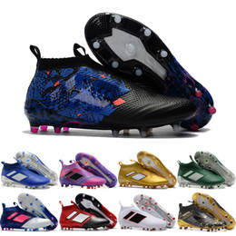 Wholesale Online Winter Sale - 2017 Cheap Online Wholesale Hot sale newest high ankle men Best fOOTbaLls bOOTs ACE 17+ purECOntROl green black pink sOcCEr outdoor