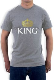 Wholesale sleeve ideas - KING Crown - Matching Couples Valentines Gift Idea T-Shirt King & Queen New Fashion Men'S Short Sleeve
