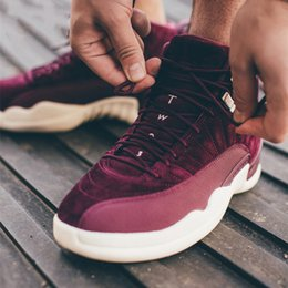 Wholesale Wine Boots - 2017 New Air Retro 12 Bordeaux for Man Basketball Shoes Wine red high quality retro 12s Mens sport Trainer Sneakers Eur 41-47
