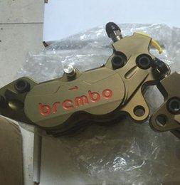 Wholesale Disc Caliper - Motobike Motorbike Motorcycle Brake Pump Front Rear Wheel Hydraulic Disc Caliper CNC Brand 4 piston Bronze for Honda Aprilia KTM Suzuki