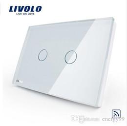 Wholesale White Crystal Glass Switch Panel - US AU standard,Livolo White Crystal Glass Panel, Remote Switch AC 110~250V 50~60Hz Wireless Remote Home Light Switch VL-C302R-81
