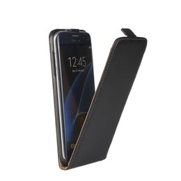 Wholesale Vertical Flip Wallet Case - For S7 edge Magnetic Genuine Real Leather Vertical Up and Down Up&Dow Open Flip Classical Pouch Holster Skin Cover For Samsung Galaxy S7