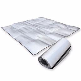 Водонепроницаемый алюминиевой фольги Ева кемпинг мат складной складной складной складной спальный пикник пляжный матрас открытый коврик Коврик 3size 100~200X200cm от