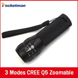 Wholesale Laser Flashlight Free Shipping - 1pcs 2000Lumens CREE Mini lanterna LED military hunting camping laser Flashlights Zoomable Free shipping