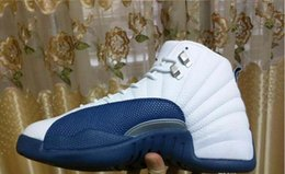 Wholesale Perfect Day - Drop shipping Super Perfect Quality Retro 12 Flu Game French Blue The Master OVO 12 white With Box Men Basketball Sport Shoes
