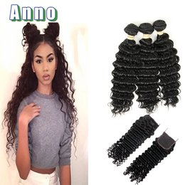 Wholesale Wet Wavy Braiding Hair - ANNOHair Products Peruvian Deep Wave 3 Bundle Deals Wet And Wavy Virgin Peruvian Hair Braiding Sale Promotion
