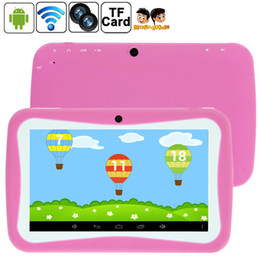 Wholesale Kid Tablets Cheap - Free Shipping 7 inch Cheap Children Kids Tablet PC Quad Core 8GB RK3126 Android 5.1 MID Dual Cam Educational Games