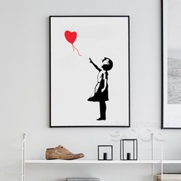 banksy ballon girl canvas art print painting poster wall pictures for home decoration frame not include 156 on sale