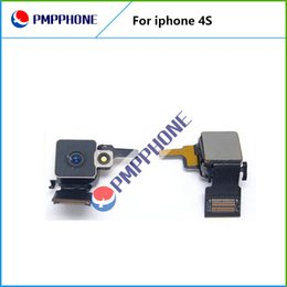 Wholesale Genuine Apple Iphone Cables - Back Rear 8MP Camera with Flash with Flex Cable Genuine Replacement for iPhone 4s & Frast Shipping