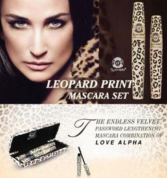 Wholesale Transplanting Mascara - Love Alpha Wild Leopard Mascara 3D FIBER LASHES Love Like Alpha Waterproof Transplanting Gel&Natural Make Up Cosmetics with box