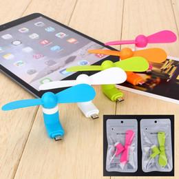 Mini micro usb portátil ventilador do telefone móvel para o telefone android samsung htc lg iphone opp pacakge saco DHL livre de Fornecedores de rádios de quansheng