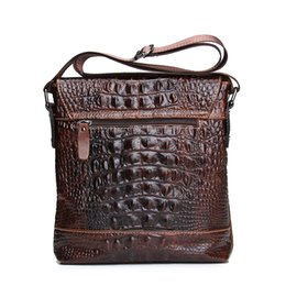 Wholesale Sewing Machine For Leather - bag for sewing machine CONTACT'S 2016 Genuine Leather Men Bag For Mele Crocodile Style Men's Business Messenge Bag Tablet PC handbag