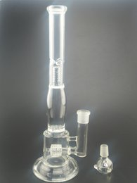 """Wholesale Fork Types - 14""""Inches Glass Water Bong Oil Rig Glass Bongs Recycler 4 Fork Branch And Inline Perc Glass Smoking Accessories Bongs 19mm Joint"""