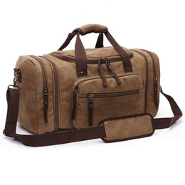 Wholesale Travel Business Box - 2016 Vintage Canvas Men Travel Bags Women Weekend Carry on Luggage & Bags Leisure Duffle Bag Large Capacity Tote Business Bolso
