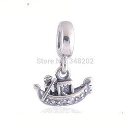 Wholesale antique sterling charms - 2017 Summer Antique 925 Sterling Silver Venice Gondola Dangle Charm DIY Beads For Women Jewelry Making Fits European Bracelet HB319