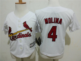 Wholesale Babys Summer Shorts - New Material Top Quality 4 Yadier Molina #52 Wacha 24 Cabrera Babys Infant Baseball Shirts Embroideried Logos Fast Shipping