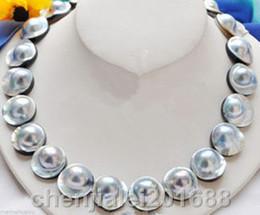 2019 mabe perlen Seltene natürliche 20 MM Mabe Perle Halskette-Mabe Verschluss rabatt mabe perlen