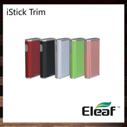 Wholesale Led Trims - Eleaf iStick Trim 25W Mod 1800mAh built-in Battery Intuitive LED Battery Bar 3 Power Levels Thin Elegant Looking 100% Original