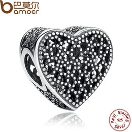 Wholesale Romance Jewelry - Wholesale-Romance 925 Sterling Silver Charms Fit Bracelets & Bangles Wedding Gift Jewelry PAS267