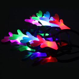 antlers per la decorazione Sconti Cartoon Flash Flash Antlers Hairpin Headband Halloween Puntelli del partito Costume Ball Decoration Regali di Natale Kids Holiday Glowing Toys