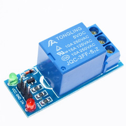 Wholesale Module Relay - Wholesale- 1PCS 5V low level trigger One 1 Channel Relay Module interface Board Shield For PIC AVR DSP ARM MCU Arduino .