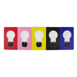 Wholesale Lamp Lighter - LED Card Light Pocket Lamp LED Flashlight Lighters Portable Mini Light Put In Purse Wallet Size Emergency Light Portable Tool 2503013
