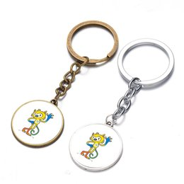 Wholesale Girl Toms - 2016 Brazil Rio Olympic mascots Tom and Vinicius time gem keychain pendant commemorative gifts promotional gifts BY DHL 170586