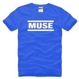 Wholesale Blue Muse - Muse t shirts Men muse t shirt Short Sleeve Cotton t shirts Tops Rock Band T-Shirts Free Shipping SL-263