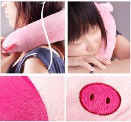 Wholesale Travel Pillow Cartoons - Home Textile Pillow Cartoon Lovely Animal U-Shaped Neck Pillow Office Nap Pillows Neck Care pillow long
