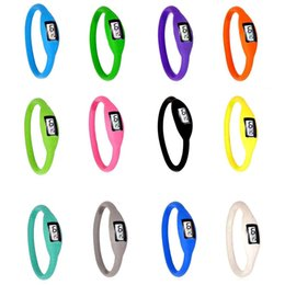 Wholesale Sport Fashion Silicon Watch - Watches For Women 16 Colours Fashion NEW Anion Sports Wrist Bracelet Watch Men Women Digital Silicon LED Watch