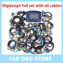 Wholesale bmw adapter cable - 2017 Digiprog 3 V4.94 Mileage Correct Auto Mileage Programming odometer adjust Digiprog III V4.94 digiprog 3 with all adapters