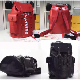 Wholesale Cycle Bags Red - Unisex Outdoor Sport Backpacks S X L V Shoulder Bag Genuine Leather Large Size Red Black Pack Bags Travel Cycling Shoes Basketball Bags