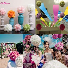 Wholesale Rose Events Wedding - 10Pcs Silk Flowers Ball Wedding Ball Roses Artificial Silk Flower Rose Balls Wedding Decoration Event Party Supplies