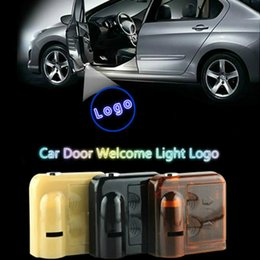 Wholesale Led Car Logo Lamps - Car-Styling Logo Door Welcome Light LED For Subaru led logo No Drill Type Badge Lights Laser Ghost Shadow Projector Lamp