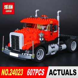 Wholesale Truck Brick Toy - New LEPIN 24023 Classic distorted creative truck tractor toy 0.9 607Pcs Building Blocks Bricks Education Model Toys 4955
