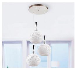 Wholesale Tom Dixon Lampshade - 2016 new arrivals modern simple LED ceramic lampshade 3 heads pendant lights restaurant livingroom pendant lights AC85-265V light fixtures