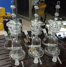 Vs diamantes on-line-Bongo de vidro grande Tubos de Água Bongo de vidro equipamento de vidro bong bong vidro reciclador de vidro verde bongo de petróleo vs diamante de vidro bong