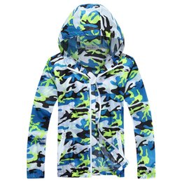 Wholesale Wholesale Outdoor Jackets - Fall-Drop Shipping Quick Drying Outdoor Ultra-Thin Skin UV Sun Protection Hooded Camouflage Men Summer Jacket 2016