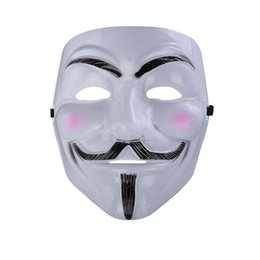 Wholesale Christmas Vendetta - Party Masks V for Vendetta Mask Anonymous Guy Fawkes Fancy Dress Adult Costume Accessory Party Cosplay Masks
