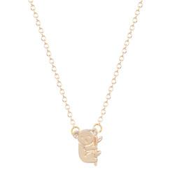Wholesale Cute Koala Bears - 10pcs lot Small Cute Koala Bear Branch Shaped Necklace for Women Animal Charm Pendant Gold Silver Simple Long Necklace Bijouterie