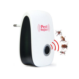 Wholesale Electronic Repeller Insects - 100pcs Upgraded Effective Safe Ultrasonic Electronic Pest Repeller Killer Insect Mosquitoes Rat Cockroaches Control Pest Reject ZA0989