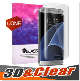 Couvercle transparent pour galaxy s6 en Ligne-Note 7 0.2MM Full Clear Galaxy S7 bord S6 S7 Full Screen Protector Verre trempé S6 bord Full Cover 3D incurvé Retail Package