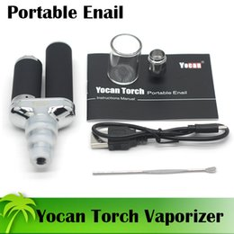 Wholesale Extra Wax - Authentic Yocan Torch Wax Vaporizer For Wax & Dry Herb With Extra QDC Coil Fit Glass Hookah Black Silver In Stock