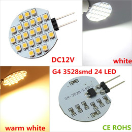 Wholesale Raspberry Cooler - G4 24 3528SMD LED Lamp ARDUINO RASPBERRY marine boat tailer led g4 dc 12v rv led light 2 watts