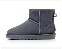 3962b0f394b39d Hot Winter Schneeschuhe Classic WGG 5854 Damen Warm Mini Boot Weihnachten  Damen Minis Schuhe Chestnut Chocolate Grey Schwarz Verkauf