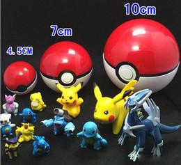 Wholesale Figures Manga - 2016 4.5cm 7cm 10cm pokeball pokémon go poke figures For Cosplay Plastic Poke Ball Manga Toy for kid DHL Free