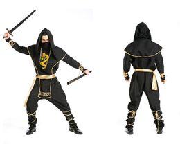 Wholesale Custom Ninja Costume - Adult fantasy of deluxe custom men halloween Medieval Assassin gladiator Ninja cosplay costumes party outfits suit