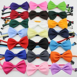 Wholesale Cheap Wedding Ties - cheap bowtie gentleman men's solid color wedding party imitation silk bow ties fashion bowknot men's accessories cravat L88
